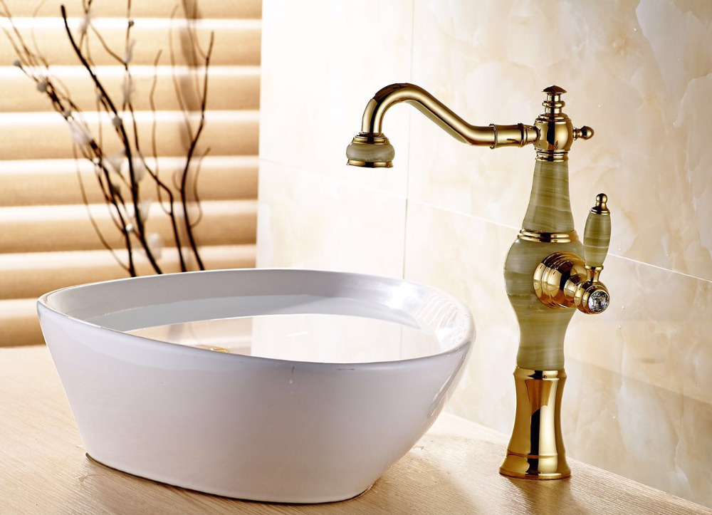 Golden marble bathroom faucet waterfall bathroom basin faucet marble sink tap waterfall faucet mixer tap Vintage water faucet infos bathroom led waterfall water tap