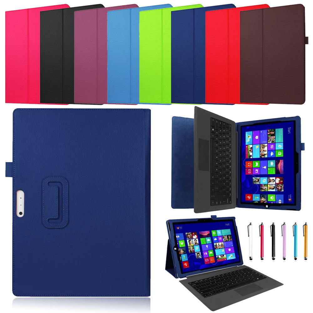 Luxury PU Leather Case For Microsoft Surface Pro 4 Flip Stand Cover Smart Case For Surface Pro4 12.3