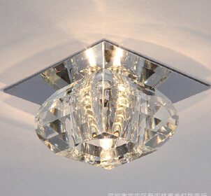 3 W LED gangpad plafondlamp moderne korte woonkamer veranda plafond verlichting vierkante kristallen lamp