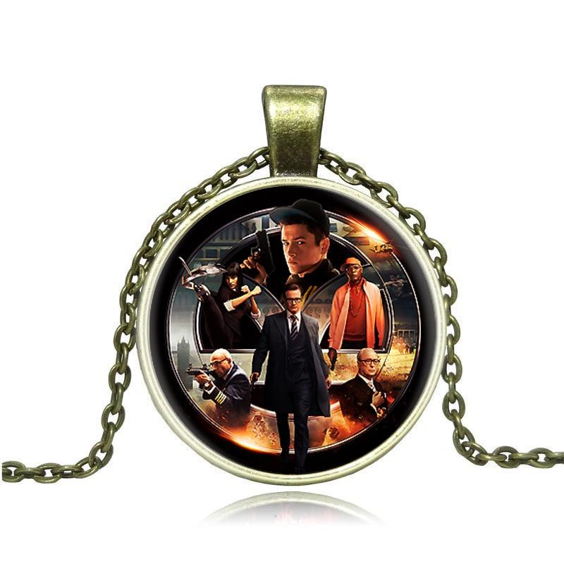 Vintage Television Accessories Kingsman Jewelry The Secret Service Pendant Necklace