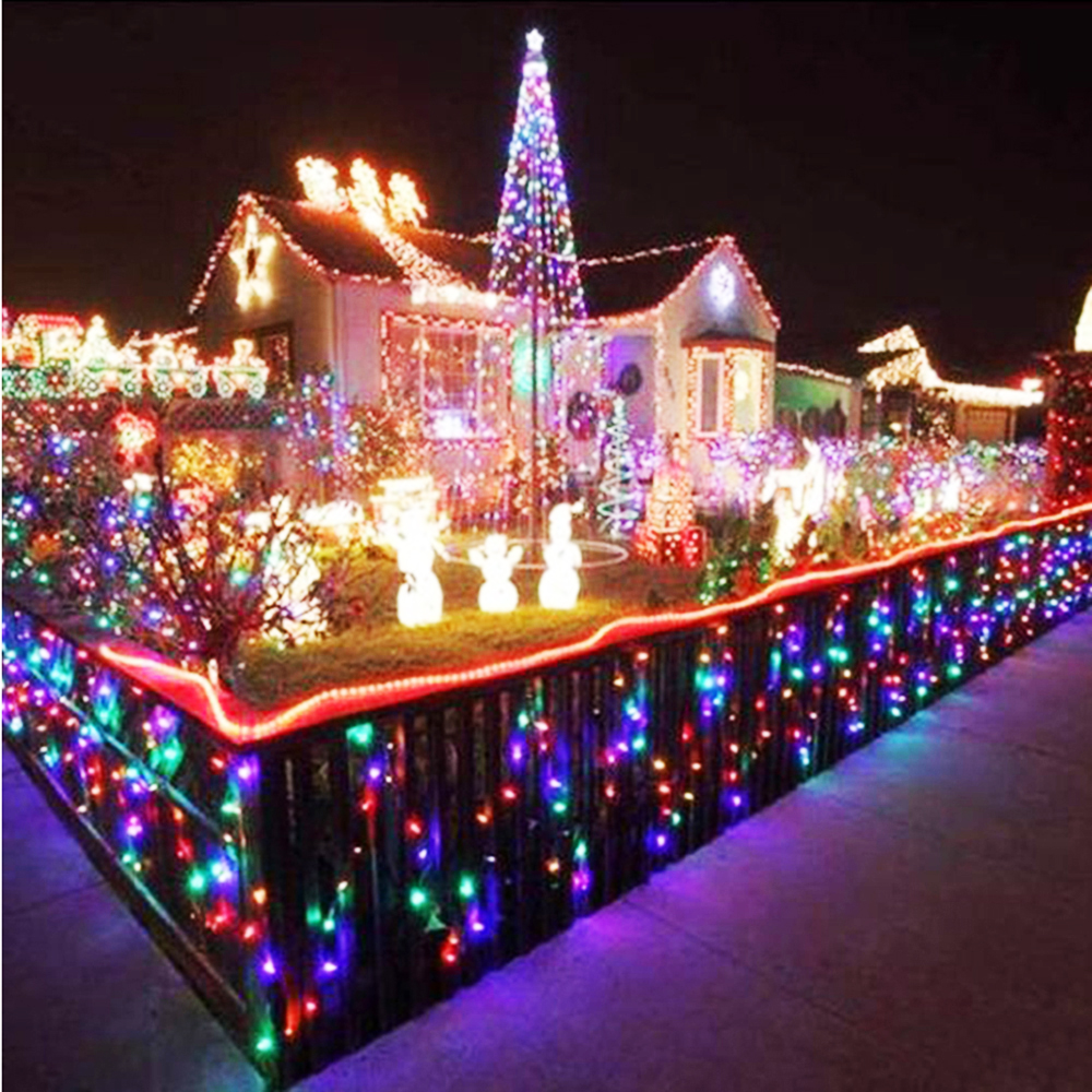 holiday led string lights christmas tree house courtyard party garden decor 10m 100 leds ac220v110v 9 colors fast ship l in led string from lights - Led Light Christmas Decorations