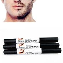Homens Rosto Barba Caneta Crescimento Rápido Eficaz Melhorar Facial Caneta Líquido O Crescimento Enhancer Bigodes Bigode Styling Spray Caneta de Desenho