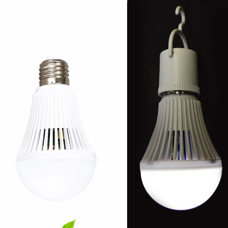 LED Beam Intelligent Emergency Bulb Lamp Light Rechargeable 9W Home w/Hook 900lm