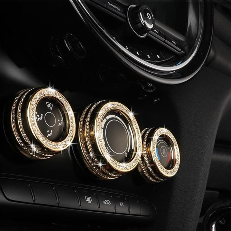 Dashboard Steering Wheel Automobile Decorative Modified Auto Upgraded Car Styling Bright Sequins Accessory 18 19 FOR MINI F55(China)