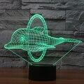 7 cor Ilusion Atmosfera de Férias Decorativos Crianças Estilo golfinho 3D Luz CONDUZIDA Da Noite