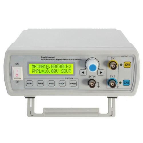 Двухканальный генератор сигналов DDS FY3225S, 25 МГц, генератор синусоидальных волн произвольной формы, счетчик частоты 100 МГц