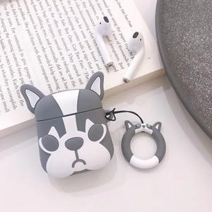 Image 4 - Cute Cartoon Bulldog Earphone Headset Accessories TPU soft case For Airpods Wireless 1 2 Bluetooth Headset bags