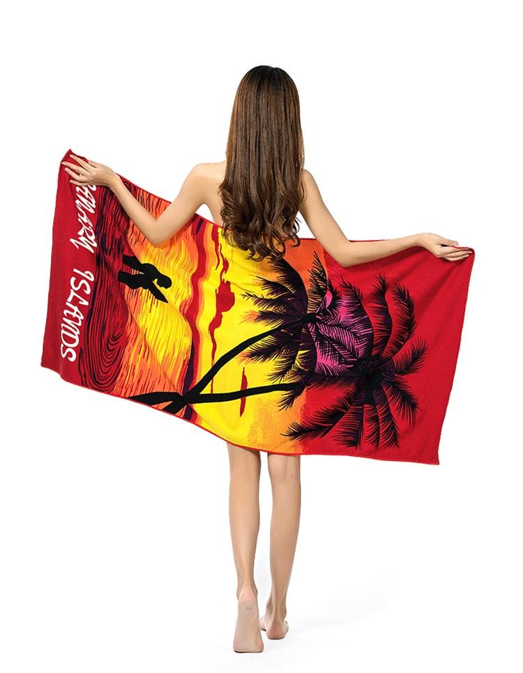 Красочный Печатный 70 * 150 см Полиэстер Микрофибра Банное Полотенце Замороженные Пляжные Полотенца Сушки Мочалки Купальники Полотенце для Душа Домашний Текстиль