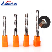Aubalasti 1pc 6mm 2 Flutes Spiral with blade CEL 12-72mm Milling Cutter CNC End Mill router bit for wood carbide router tool цена 2017