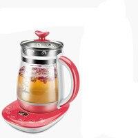 Chaleira elétrica 1.5l pote de Saúde totalmente automático multi-função de vidro espessamento recondução tempo fervida elétrica bule de chá de frutas