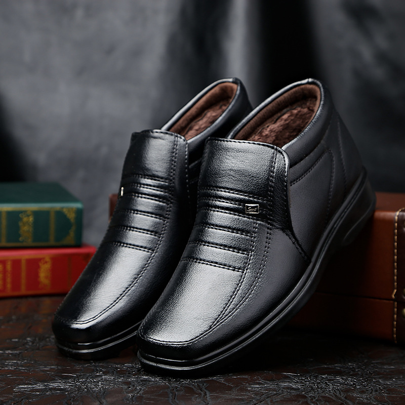 Men Boots 2018 Men Business Casual Leather Shoes Men Oxfords Classic Father's Shoes Men Flats Round Toe Comfortable Office цены онлайн