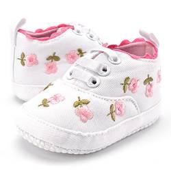 Для маленьких девочек белые цветочные кружева вышитые мягкая обувь для ползунков для прогулок детская обувь для малышей Бесплатная
