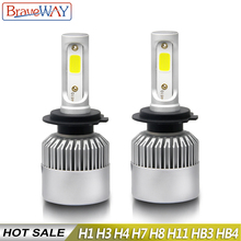 BraveWay LED Headlight Bulb H1 H3 H4 H7 H8 H9 H11 H13 9005 9006 9007 for Car Automobile Fog Lamp Auto Lights