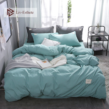 Liv-Esthete Pure Green Luxury Bedding Set Soft Home Duvet Cover Flat Sheet Double Queen King Adult Bed Linen Bedspread As Gift