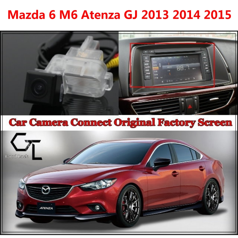 цена Rear View Camera for Mazda 6 M6 Atenza GJ 2013 2014 2015 Car Camera Connected with Original Screen / Monitor Original car screen