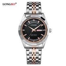 Relogio Masculino LONGBO Luxury Brand Full Stainless Steel Analog Display Date Men's Quartz Watch Business Watch Men Watch 80164