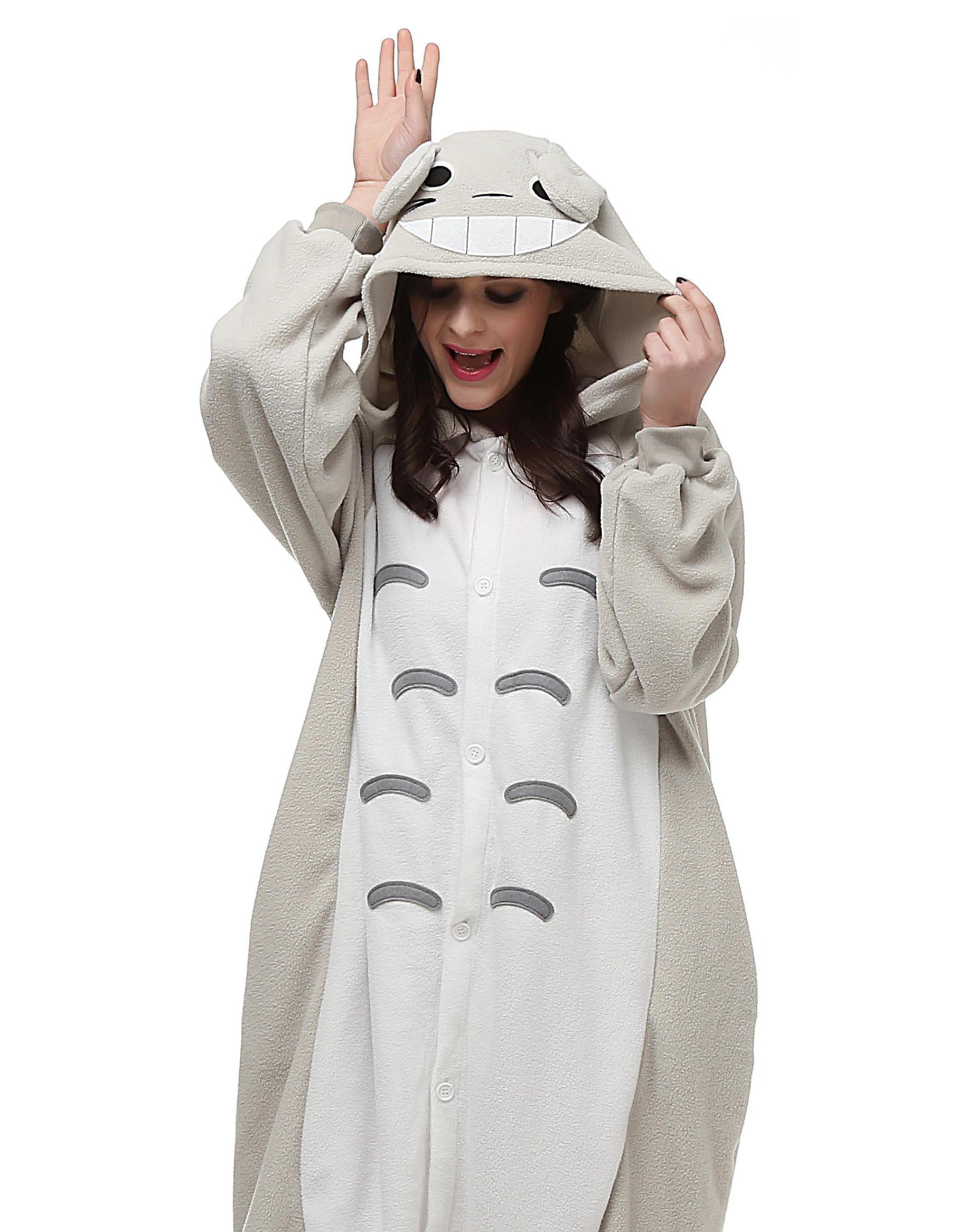 Image 4 - HKSNG On Sale Winter Totoro Eeyore Donkey Kigu Onesies Animal Pajamas Hooded Cosplay Costume Homewear Kigucosplay costumecostume cosplaypikachu pajamas costume -