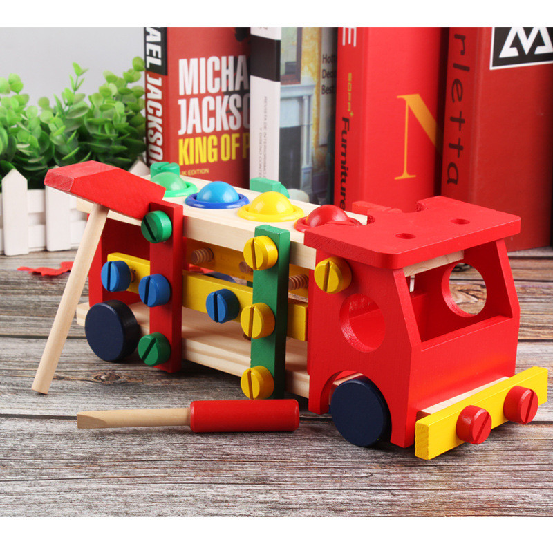 Wooden Assembly Toy Truck Puzzle 21