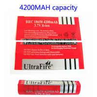 50pcs 18650 lithium battery 4200MAH battery PVC heat shrinkable sleeve red skin capacity shrink film heat shrinkable film label