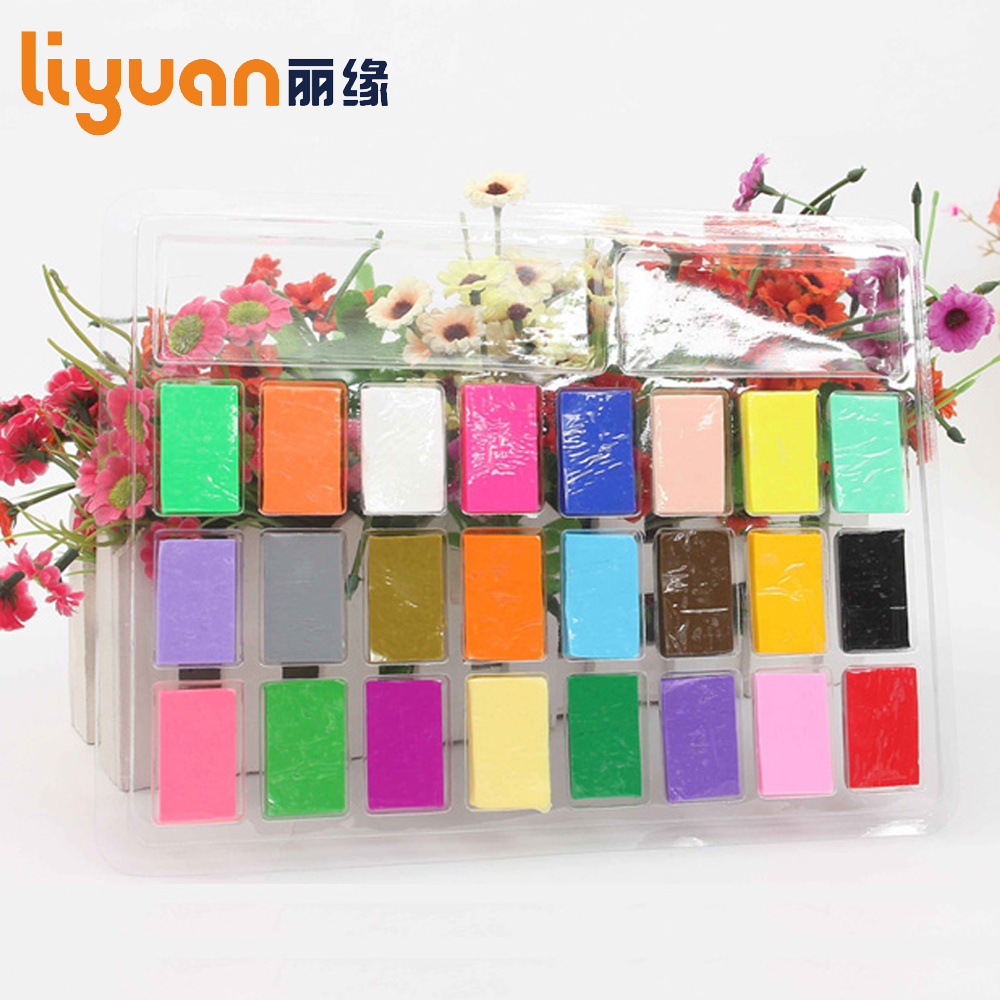 Liyuan Soft Molding Modell Clay Fargerikt Ovn Baking Clay Plasticine Creative Handmade Craft Toy Gift for Kids 24 Colors
