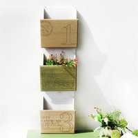 ZAKAKA Sytle Natural Wooden Household Decoration Storage Shelf And Racks Garden Planter Flower Plants Flowerpot