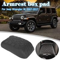 Tread Pattern Armrest Pad Replacement for Jeep Wrangler Console Armrest Cover for Wrangler JK 2007 2017 Car Accessories