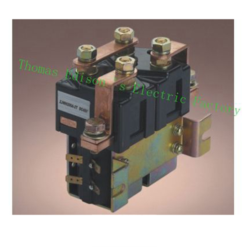 ZJWH400A 2NO+2NC 12V 24V 36V 48V 60V 72V 400A  DC Contactor for motor forklift handling drawing wehicle car dc reversing contactor dc182b 537t for forklift 48v 200a zapi b4dc21