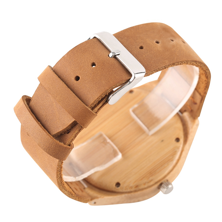 Unique Handmade Bamboo Wooden Clock Gifts Casual Quartz Wristwatch Watches Men Watches Top Brand Luxury relogio masculino (18)