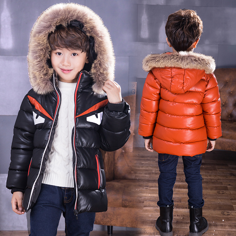 Fashion 2018 Winter Jacket For Boys Parkas Children Outerwear Coat Hooded Jacket Kids Warm Cotton-Padded Clothes Boy Jacket 12Y