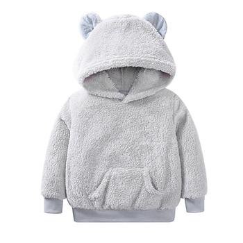 new autumn children clothing boys girls outwear kids spring hoodies full sleeve Unisex Sweatshirts with Cartoon Ear Hoodies & Sweatshirts