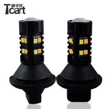 Tcart  for Chevrolet Cruze 2011 Led Car DRL Daytime Running Lights Turn Signals lights PY21W 1156 T20 for car lights