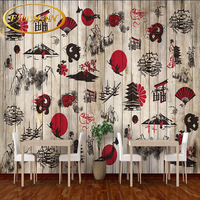 Free Shipping Japanese Food Culture Japanese Restaurant Backdrop Snack Bar Coffee House Kitchen Wallpaper Mural