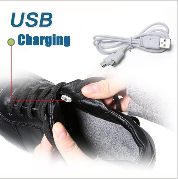 Maat 25-45 USB Opladen Tenis Led Feminino Mand Led Light Up Trainers - Kinderschoenen - Foto 5