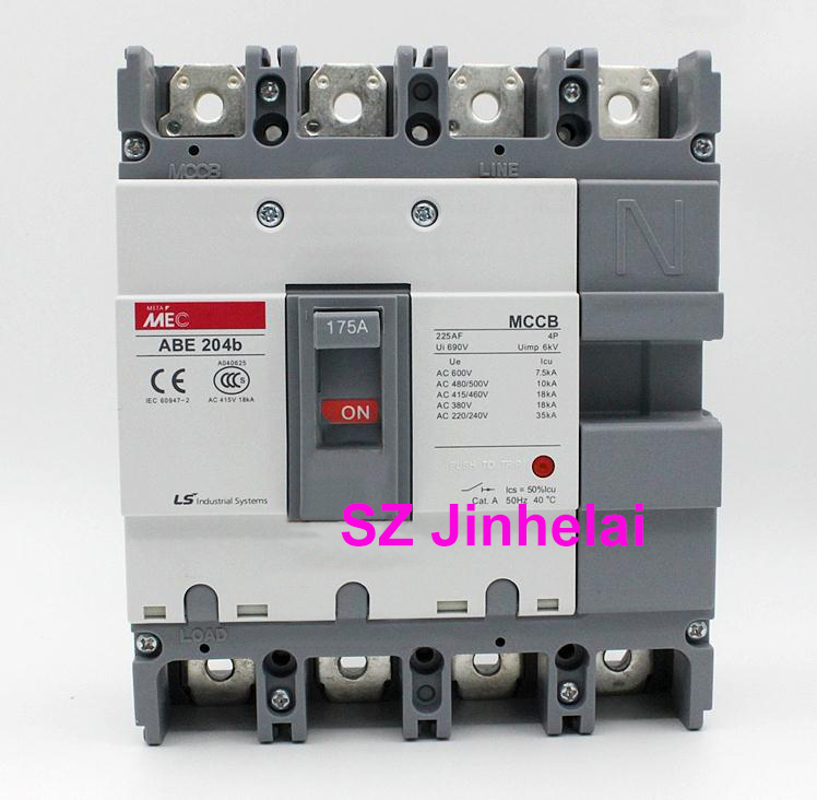 ABE204b Authentic original ABE 204b LS Molded case circuit breaker ABE-204B Air switch 4P 125A/175A/200A/225A cm1 400 3300 mccb 200a 250a 315a 350a 400a molded case circuit breaker cm1 400 moulded case circuit breaker