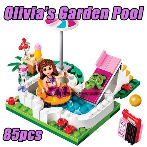 10542 BELA Friends Series Olivia's Garden Pool Building Blocks 85pcs Bricks Toy Children Compatible With Legoings Friends 41090 цены