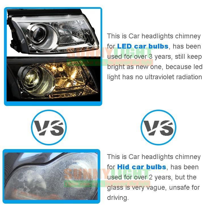 186- H4 hi lo high low led headlight high power 40W motorcycle moto bike headlamp