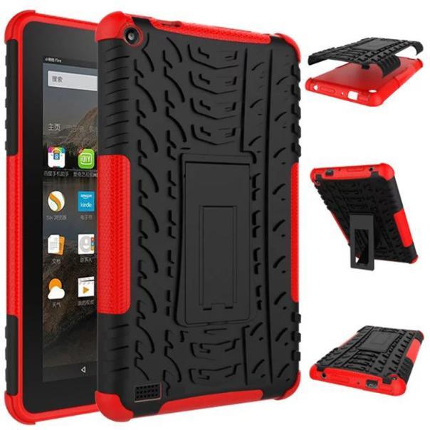 CARPRIE Cases Tablet Black Rubber Shockproof Hybrid Hard Case Cover Stand Holder For Kindle Fire HD7