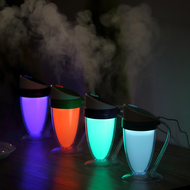 Essential Oil Diffuser Portable Aromatherapy Ultrasonic Cool Mist Humidifier LED Lights and Waterless For Office Home Face Body