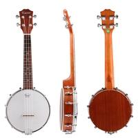 Kmise 4 String Banjo Ukulele Ukelele Uke Concert 23 Inch Size Sapele Wood