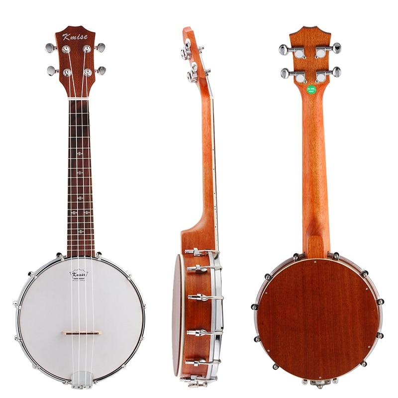Kmise 4 String Banjo Ukulele Ukelele Uke Concert 23 Inch Size Sapele Wood kmise concert ukulele solid spruce ukelele uke 4 string hawaii guitar 23 inch 18 frets with gig bag