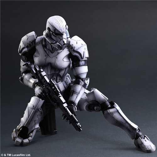Brand New PLAY ARTS Action Figure Toys Movie Star Wars Stormtrooper 26cm PVC Figure Model Toy For Gift/Collection/Kids brand new dc cartoon action figure toys aquaman 24cm pvc classical figure model toy for gift kids collection free shipping