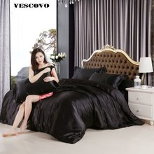 100 Chinese Silk Bedding set Duvet Cover Set Silky Bed cover 3/4 PCS Twin Queen King Size(China)