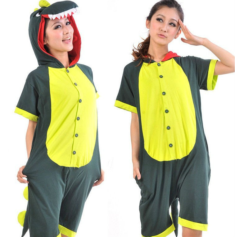 Popular!!new Japan Dinosaur Fashion Casual Short Sleeve Summer Pyjamas Party Dress Size S M L Xl As Effectively As A Fairy Does Home