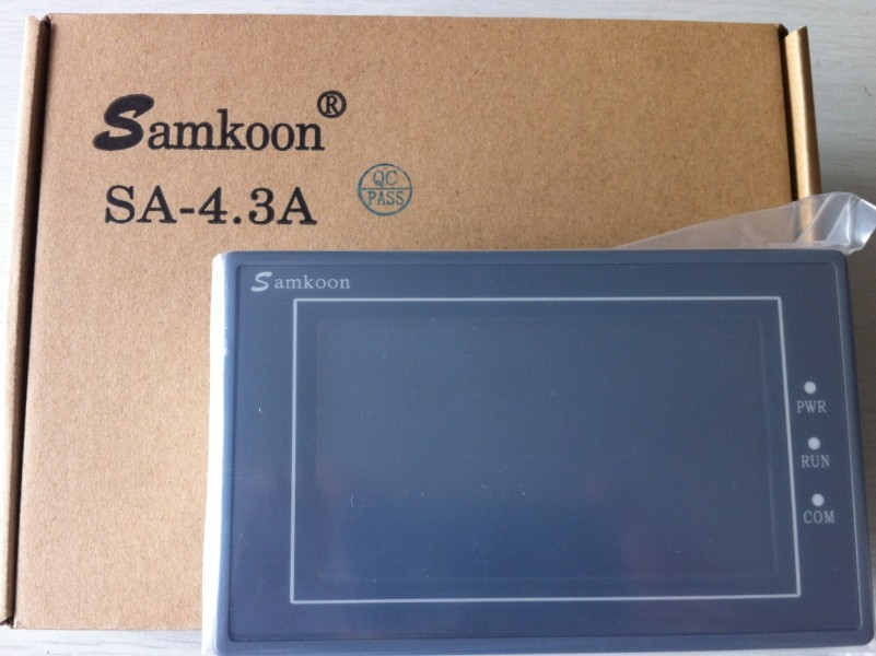 цена Freeship NEW Original Samkoon HMI SA-4.3A with Program Cable & Software,SA4.3A, 4.3'' Touch Panel,480x272,RS232/422/485 Com Port
