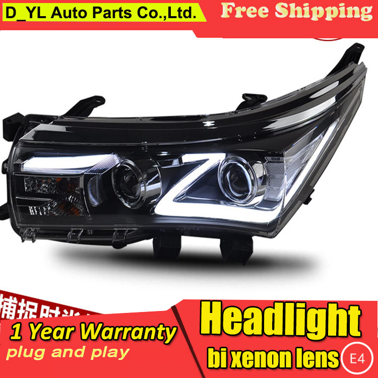 D YL Car Styling for Toyota Corolla Headlights 2014 2016 Corolla LED Headlight DRL Lens Double