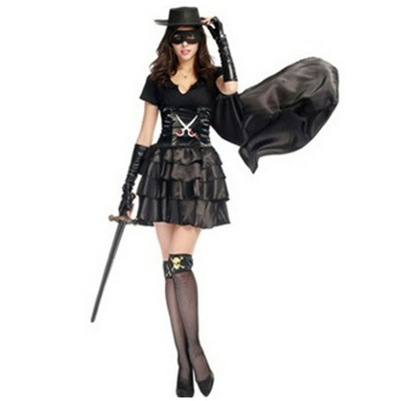 Fantasia Sexy Woman Batman Cosplay showing Halloween Masked female Pirate Warrior Costume Carnival Nightclub Masquerade dress