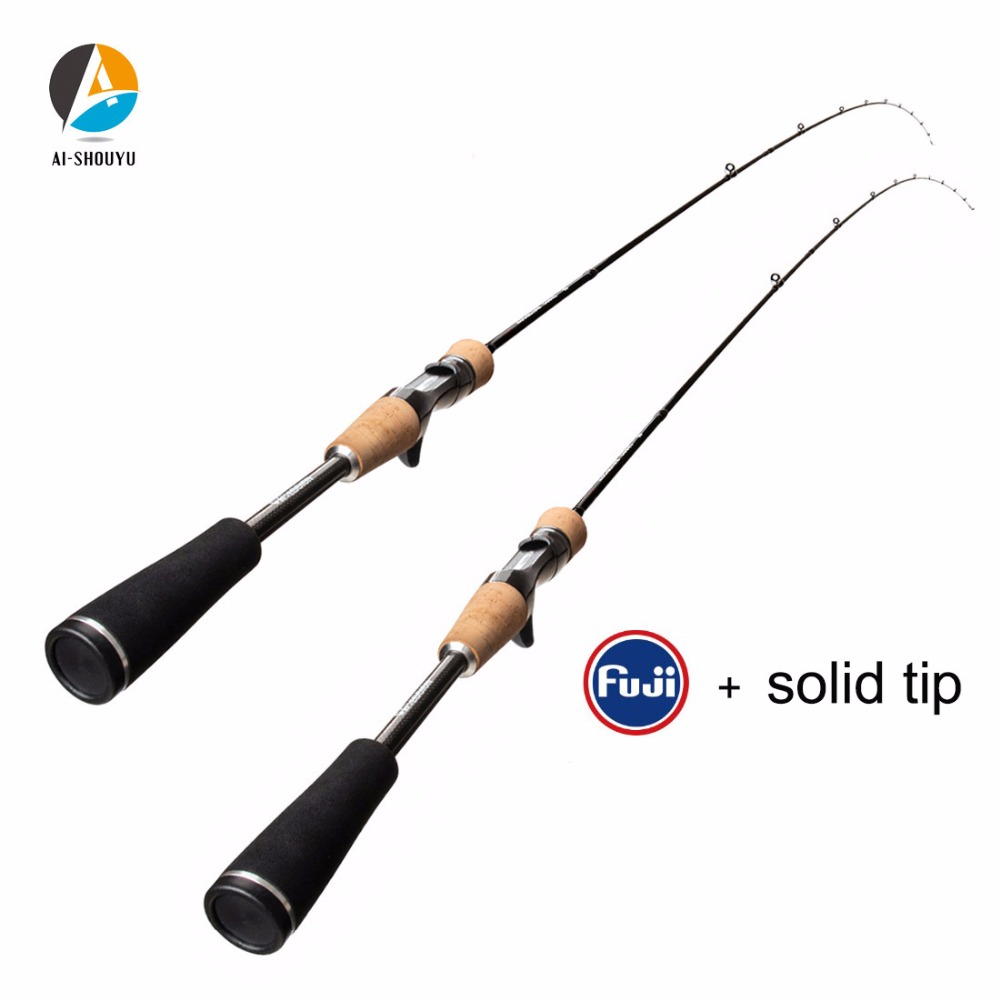 AI SHOUYU New Solid Tip Rock Fishing Rod L Power C W 3 12g Spinning Casting