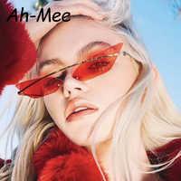 Luxury Cat Eye Sunglasses Women Cool Brand Female Sun Glasses Vintage Metal Frame Mirror Ladies Shades Trending Triangle Eyewear