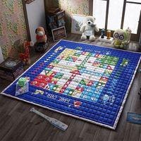 Grote Maat Tapijten en Tapijt voor Kids Hoge Kwaliteit Floor Mat Anti Slip Baby Spelen Kruipen Mat Blauw Baby Spelen Floor Mat