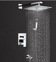 Товары для ванной набор для душа три функции Для ванной для душа, Смесители настенное крепление для душа руку + душ + Носик + смешивания клапа